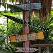 Tiki Bar Sign Poster