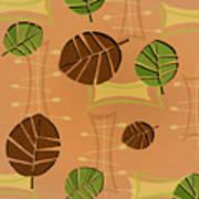 Tiki Lounge Wallpaper Pattern Poster