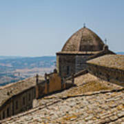 Tile Roof Tops Of Volterra Italy Poster