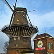 Tilting At Windmills In Amsterdam Poster
