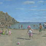 Time To Go Home - Porthgwarra Beach Cornwall Poster