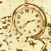 Time Worn Vintage Pocket Watch Poster
