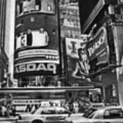 Times Square Black And White Poster