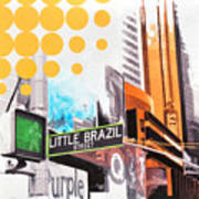 Times Square Little Brazil Poster