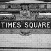 Times Square Station Tablet Poster