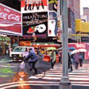 Times Square Umbrellas Poster