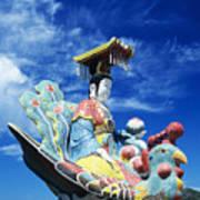 Tin Hua Temple Closeup Of Colorful Statue Poster