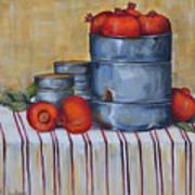 Red Pomegranates Poster
