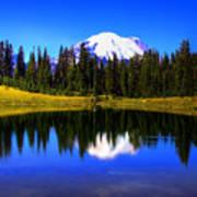 Tipsoo Lake And Mt Rainier Poster