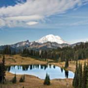 Tipsoo Lake And Rainier Poster
