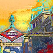 Tirso De Molina Metro Entrance Madrid Poster