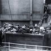 Titanic Rescue Ship Carpathia Arriving In Dock Poster