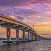 Titusville Sunset Bridge Poster
