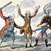 T.jefferson Cartoon, 1809 Poster