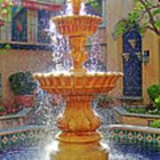 Tlaquepaque Fountain In Sunlight Poster