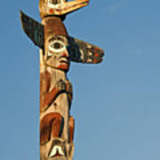 Tlingit Totem Pole Poster by Greg Vaughn - Printscapes