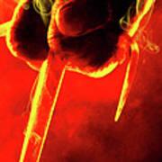 Tmnt 1   -  Raphael Smoky Red. Poster