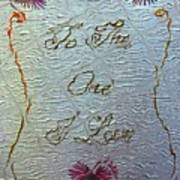 To The One I Love Poster