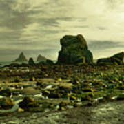 To Walk Alone Along Rocky Shores Poster
