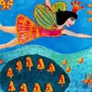 Toadstool Fairy Flies Again Poster