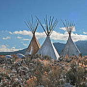 Tee Pees, Taos New Mexico Poster
