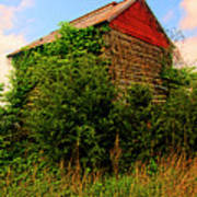 Tobacco Barn On A Rise Poster