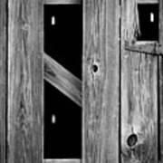 Tobacco Barn Wood Detail Poster