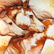 Tobiano Horse Trio Poster