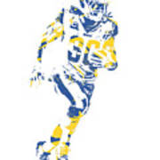 Todd Gurley Los Angeles Rams Pixel Art 30 Poster