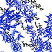 Toile Blue And White Tree Poster