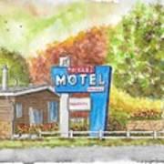 Toiyabe Motel In Walker, California Poster