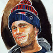 Tom Brady Poster by Dave Olsen