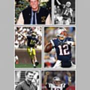 Tom Brady Football Goat Poster