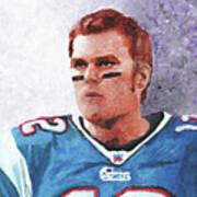 Tom Brady Poster by William Bowers