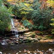 Tom Branch Falls In Nc Poster