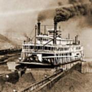 Tom Greene River Boat Poster