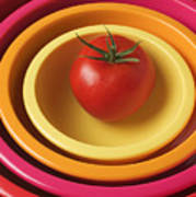 Tomato In Mixing Bowls Poster