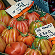 Tomatoes At Market Poster