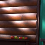 Tomatoes On Porch Poster
