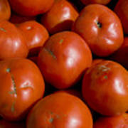 Tomatoes Sit In The Sun Awaiting Buyers Poster