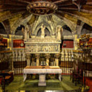 Tomb Of Saint Eulalia In The Crypt Of Barcelona Cathedral Poster