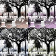 Tomb Stones Of Many Prayers Poster