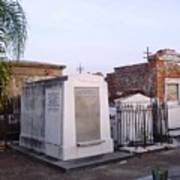 Tombs In St. Louis Cemetery Poster