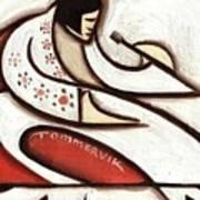 Tommervik Elvis Red Cape Art Print  Poster