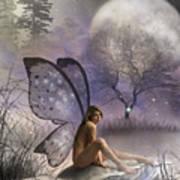 Tonight She Waits Poster by Crispin  Delgado