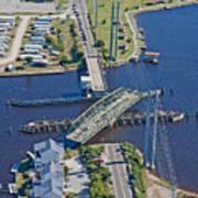 Topsail Island Swing Bridge Poster by Betsy Knapp
