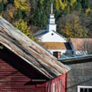 Topsham Village Vermont Poster
