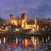 Torino-il Borgo Medioevale Di Notte Poster