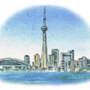Toronto Canada City Skyline Poster