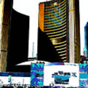 Toronto City Hall Graphic Poster Poster